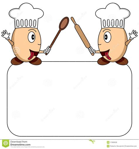 cartoon egg chefs logo or menu royalty free stock photos