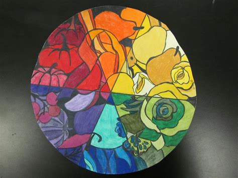 high school lesson color theory colorwheel bouquet lesson space sparkle1000
