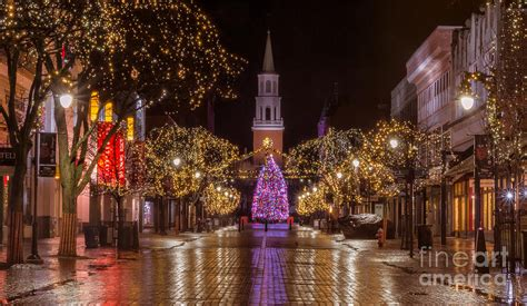 burlington christmas decorations time on church photograph by new photography