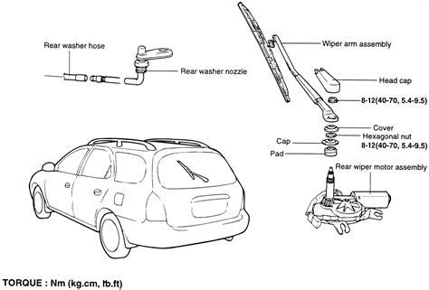 repair windshield wipe control 2000 hyundai tiburon windshield wipe control repair guides windshield wipers windshield wiper arms autozone com