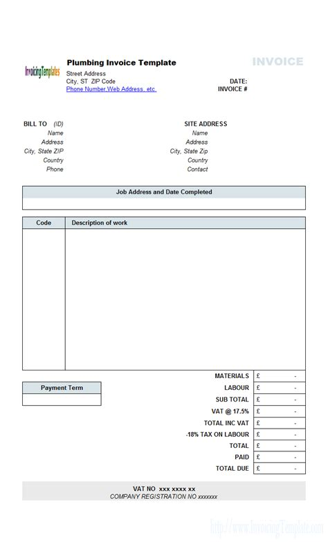 Contractors Invoice Template by Contractor Invoice Template Free Best Business Template