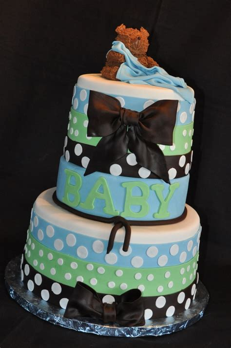 Polka Dots Baby Shower by Polka Dot Baby Shower Cake Cakecentral