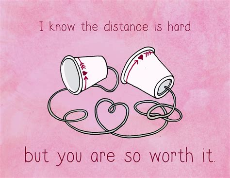 valentines day card for new relationship distance is but you re worth it distance