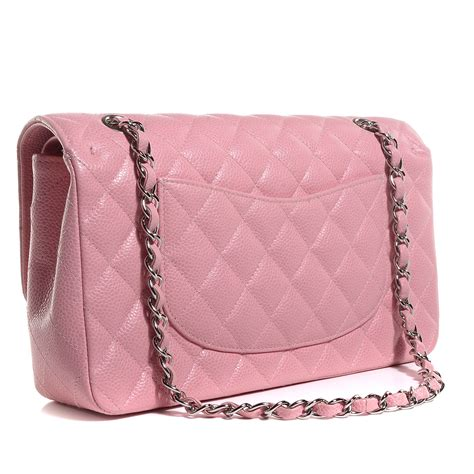 Quilted Chanel by Chanel Caviar Quilted Medium Flap Pink 87483