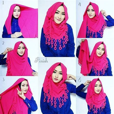 tutorial pashmina rumbai pink beautiful hijab tutorial hijab tutorials