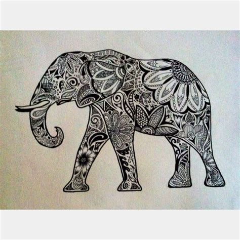 indian elephant doodle de 25 bedste id 233 er til elefanttatoveringer p 229