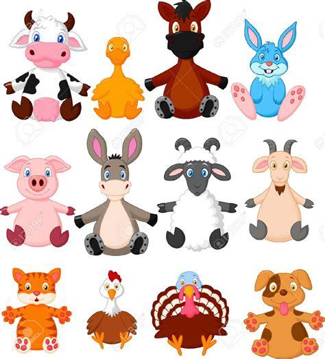 imagenes de animales animados colecci 243 n de dibujos animados de animales de granja