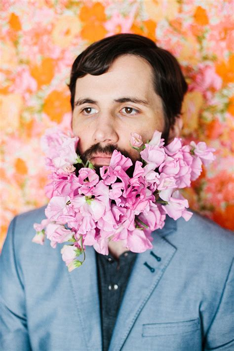flowers in their men with beards latest trend men with flowers in their beards bored panda