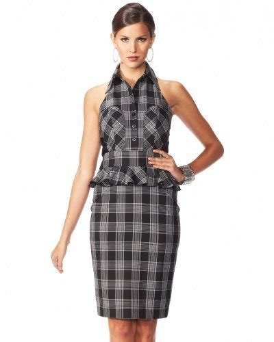 10 Sexiest For The Office From Bebe by 6 Window Plaid Pencil Halter Dress 10 Sexiest