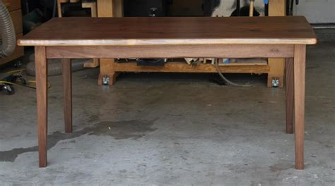 how to make a kitchen table walnut table