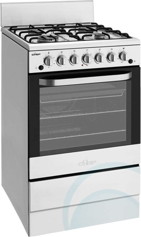 chef ovens and cooktops freestanding chef gas oven stove cfg504salp appliances