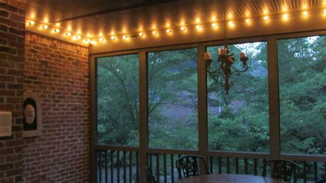 string lights for screened porch screened porch makeover for less than 500 family savvy