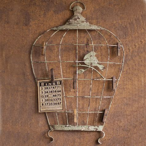 birdcage home decor birdcage wall hanging with photo clips eclectic home
