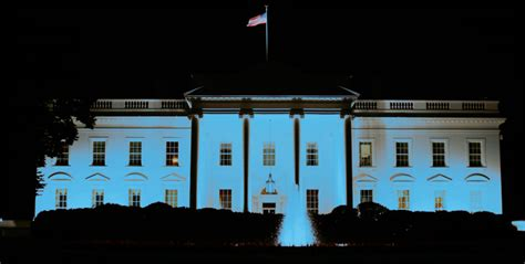 blue and white house light the white house blue for autism we urge president