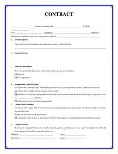 Simple Contractor Agreement Template 7 simple contractor agreement timeline template