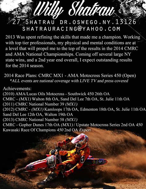 Motocross Resume by Sponsor Resume Help Non Moto Motocross Forums