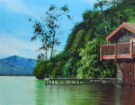 boat house online how to paint a boathouse online art lessons