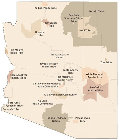 american reservations arizona map casinos in arizona map