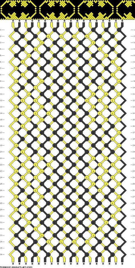 Batman String Pattern - friendship bracelet pattern batman kendra
