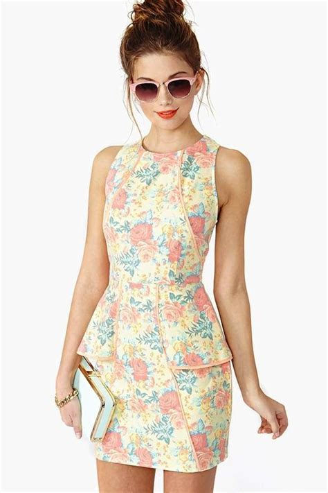 Litle Flower Peplum By Vamosh 2014 most favorite models of peplum dress 187 fashion trends and tips