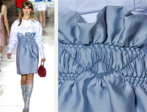 Sb Miu Miu fashion smocking for sb miu miu cuttings