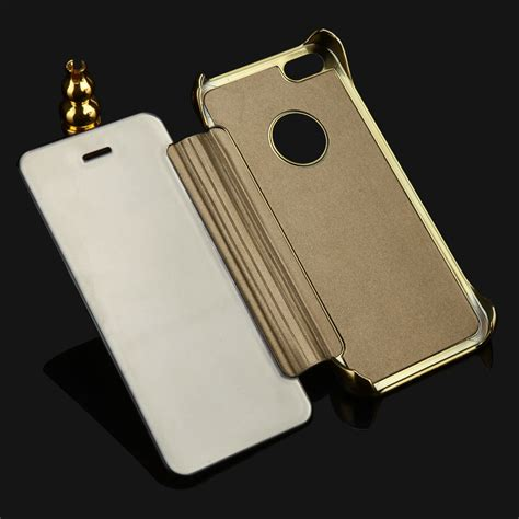 Iphone 5 5g 5s 5se Mirror Cover Flip For Iphone 5 5g 5s 5se 48 2015 luxury clear view mirror for iphone 5 5s 5g flip
