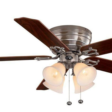 hton bay 52 inch ceiling fan indoor venetian bronze ceiling fan with light kit and