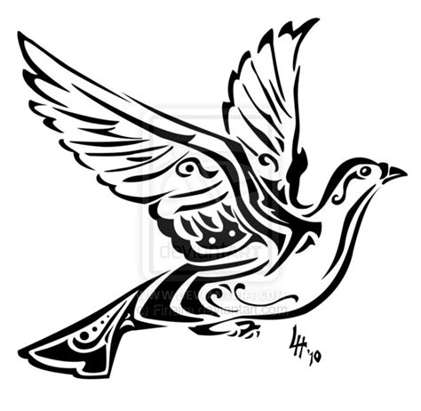 tribal dove tattoo designs tribal dove by finaira on deviantart