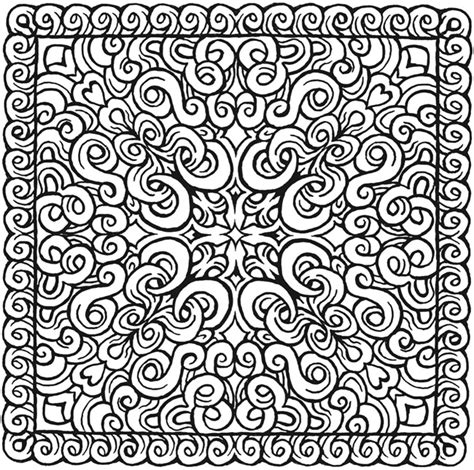 square mandala coloring pages free coloring pages of square mandala printable