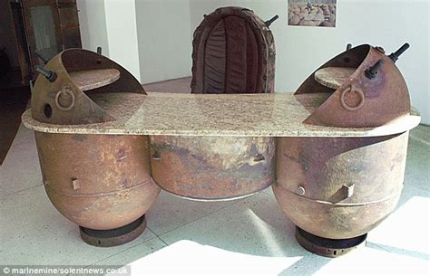 Old Desk Ideas Bomb Shell Furniture Made In Estonia From Old Sea Mines