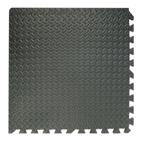 Foam Square Mats by 16 Pieces Square Floor Mat Interlocking Black Foam