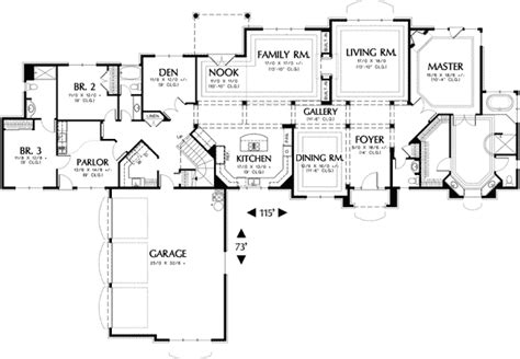 Universal Home Design Floor Plans by Universal Design On One And A Half Floors 69237am 1st