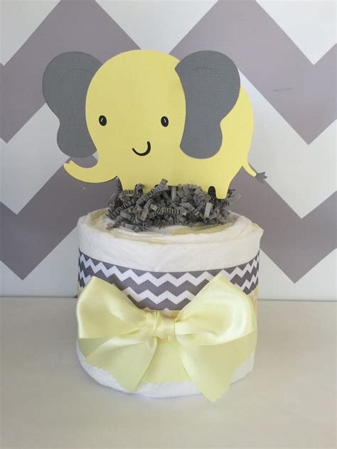 Yellow Elephant Baby Shower Decorations by Mini Elephant Theme Baby Shower Cake In Gray And