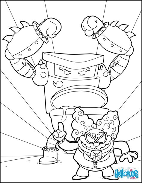 Tippy Tinkletrousers Coloring Pages Hellokids Com Captain Underpants Coloring Pages