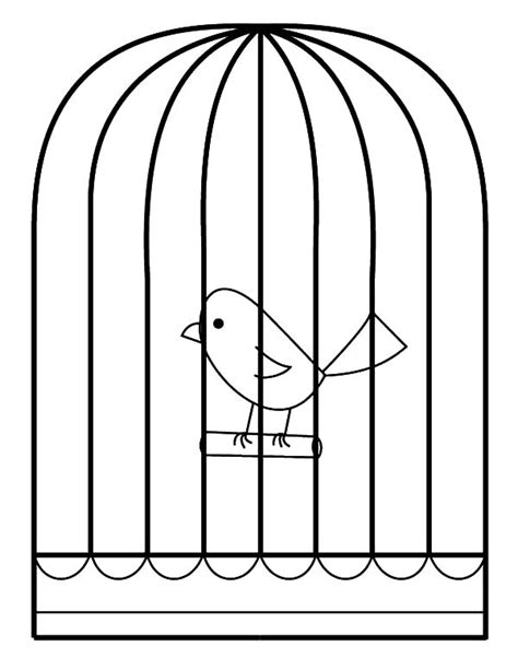 coloring page bird cage bird cage colors images