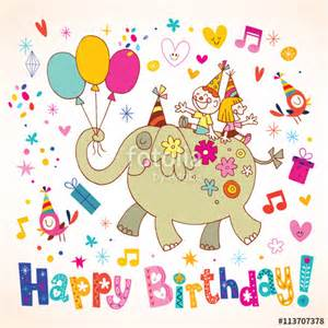 quot happy birthday kids greeting card quot stock image and