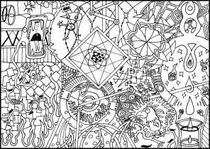 psychedelic coloring book detailed coloring pages for adults colouring page 2 by