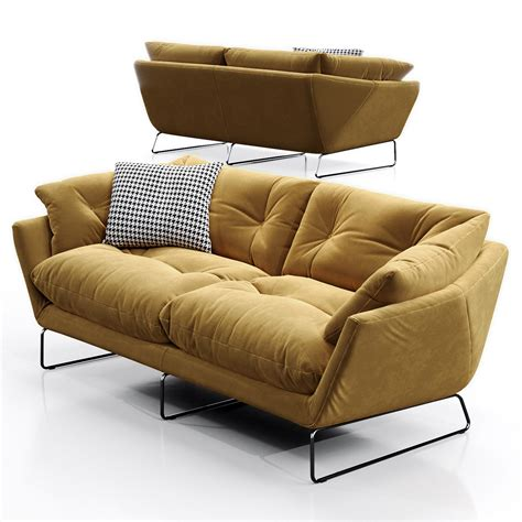 3d Model Saba Italia New York Suite Sofa On Behance