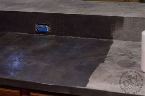 Faux Concrete Countertops by Kitchen Countertop Makeover The Diy