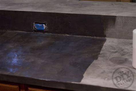 Diy Faux Concrete Countertops by Kitchen Countertop Makeover The Diy