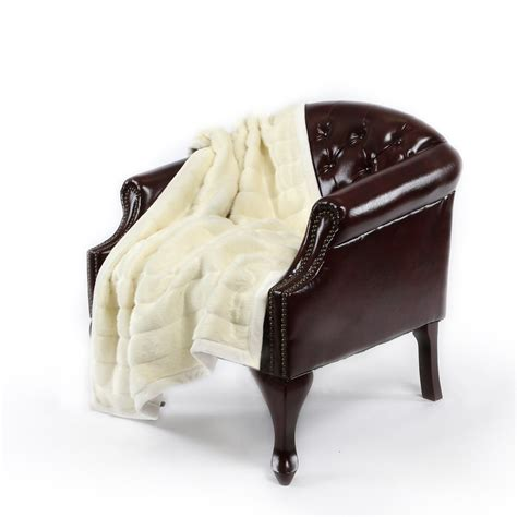 best home 58x60 faux fur mannered mink throw