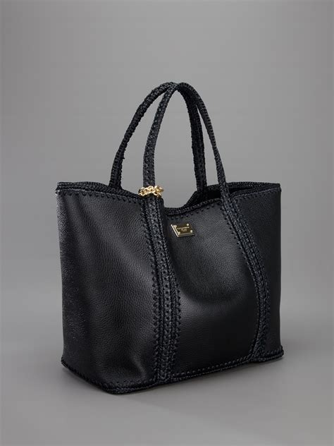Dolce And Gabbana Miss Pocket Tote by Lyst Dolce Gabbana Miss Escape Tote Bag In Black