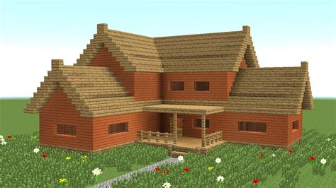 house building minecraft minecraft how to build big wooden house 3 youtube