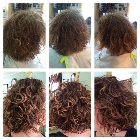 deva curl layers before after deva curl cut with subtle highlights deva
