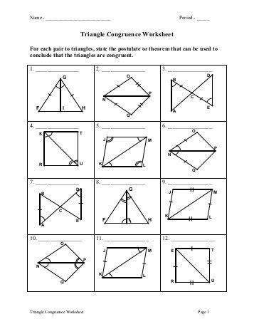 Triangle Congruence Worksheet Answers all worksheets 187 transformation geometry worksheets pdf