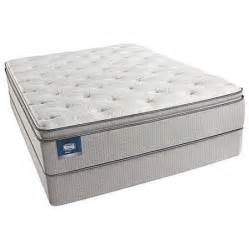 walmart king size mattress simmons beautysleep chickering plush pillow top king size
