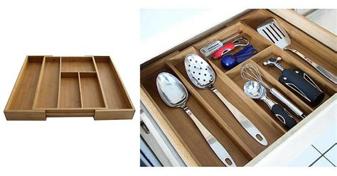 Expandable Bamboo Drawer Organizer by Sears 4 99 Bintopia Bamboo Expandable Drawer Organizers
