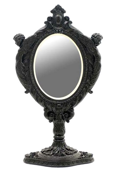 black table top mirror black baroque mirror with two cherubs tabletop mirror