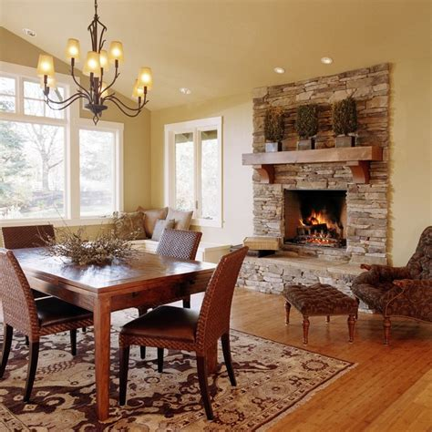 Dining Room With Fireplace by Beautiful Fireplace Settings Traditional Dining Room