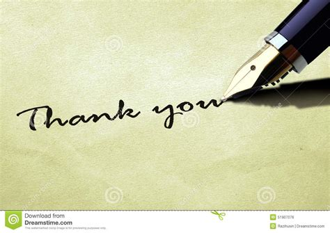 Thank You Note Illustrator Template Thank You On Paper Texture Stock Illustration Image 51907076